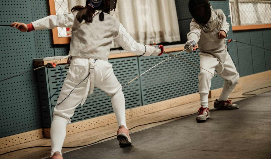 Damocles Fencing Club in Uccle, Belgium. Founded in 1990.